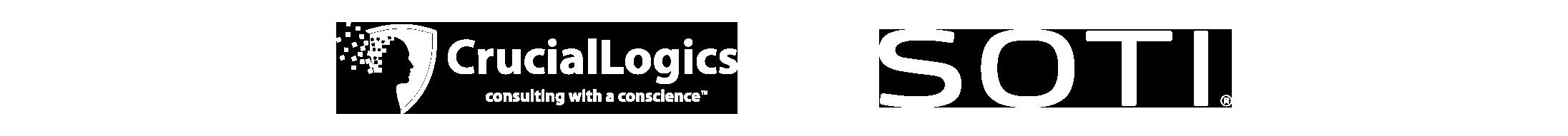 CrucialLogics and SOTI Logos